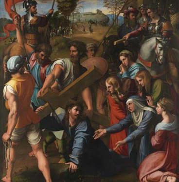 Raphaël, Sainte Cécile avec quatre saints. Vers 1515-1516. Huile sur bois, transposé sur toile. 238,5 x 155 cm. Bologne, Pinacothèque Nationale © Bologna, Pinacoteca Nazionale