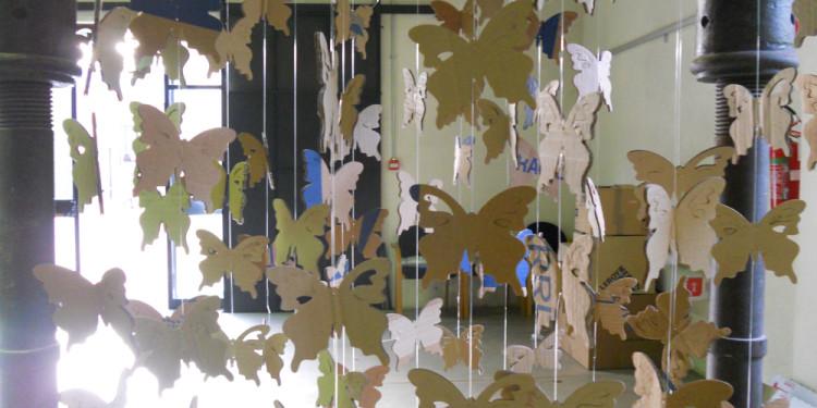 Cardboard Butteflies in 1900 Iron press (Detail)