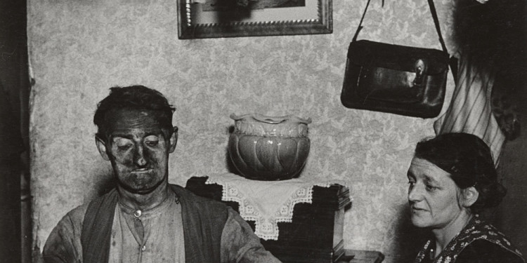 Bill Brandt (British, born Germany. 1904–1983). Northumbrian Miner at His Evening Meal. 1937. Gelatin silver print. 8 3/4 x 7 3/8″ (22.2 x 18.8 cm). The Museum of Modern Art. John Parkinson III Fund. © 2012 Bill Brandt Archive Ltd.