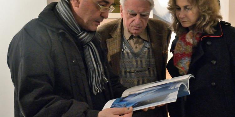 Roberto Mancini, Sergio Bertelli (al centro), Ileana Florescu