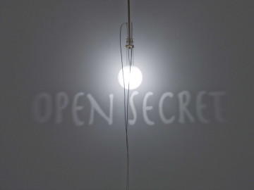 FABRIZIO CORNELI Open Secret, 2008 Bottle dimension cm20x25x35 frosted glass, brass, halogenlamp