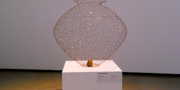 KWANG-HO JEONG, The Pot 13180, 2009, Copper wire, 80 x 80 x 80 cm
