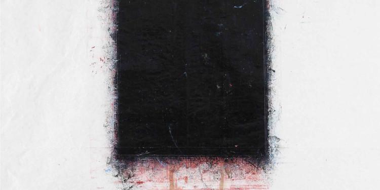 2 - nero - 2010 - olio e matita su carta - cm 140 x 100