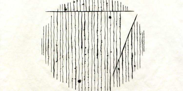 OAN KYU, 'White scratche' I - 2010 cm40x40 Muk ink on oriental paper