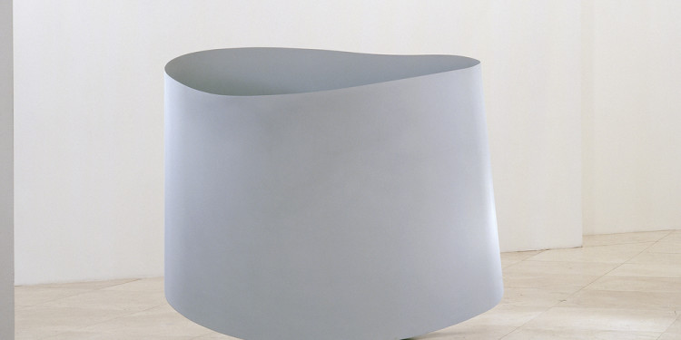 IN-KYUM KIM, Space-Less, 2009, Primer Surface Coating on Stainless Steel, 120x146x17cm