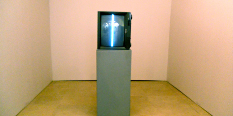 NAM JUNE PAIK - 1963 Zen for TV Video, TV Monitor 150x70x50cm