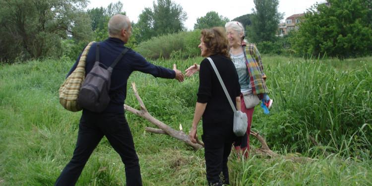 Incontro di Jill Rock con Onda Bianca e Maurizio, Valle della Caffarella, May 10, 2013