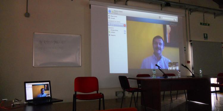 collegamento streaming con Luca Massimo Barbero alla presentazione di Roberto Zibetti presso Ente Regionale Appia Antica - 18.5.2013
