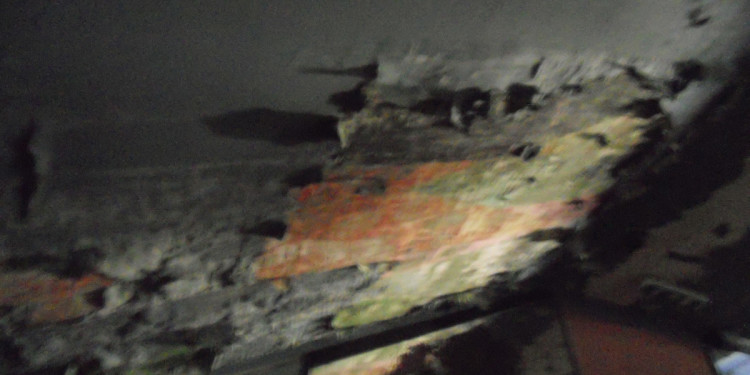condizioni attuali dell'affresco di Giuseppe Capogrossi al cineairone - 18.5.2013