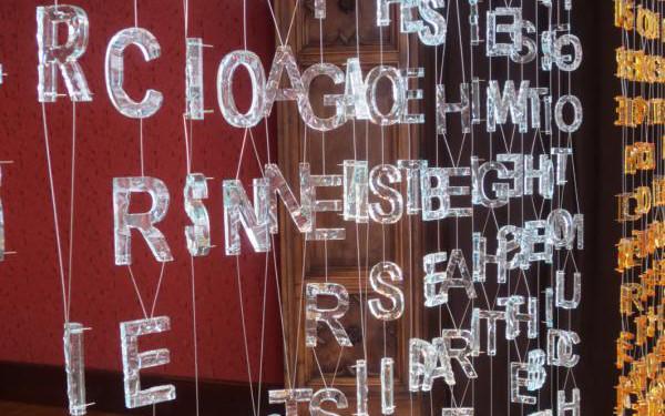 Jaume Plensa, Blake in Venice, 2013, vetro di Murano e acciaio inox, dimensioni variabili
