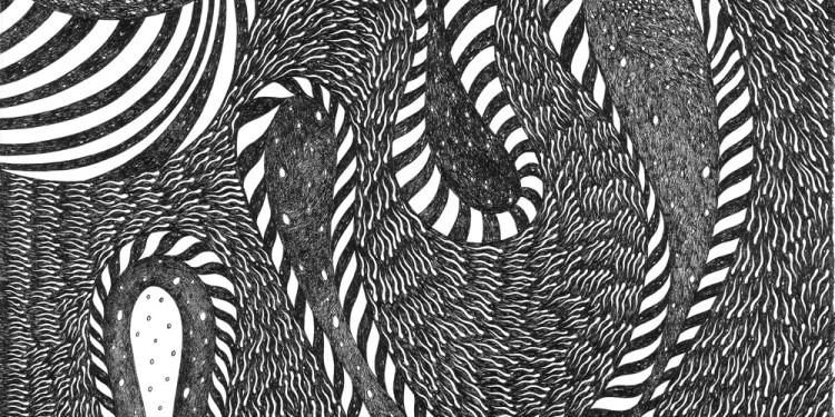 103 Pelagocentotrè, 2005 Matita e inchiostro nero su carta, 35 x 35 cm