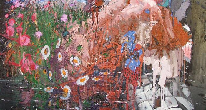 ALESSANDRO PASSARO mix media on canvas