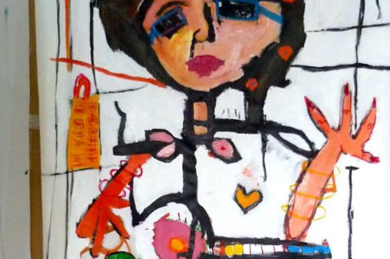 ASTOLFO FUNES mix media on canvas