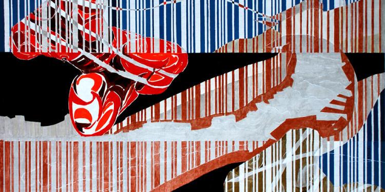 """Almone Today"""" di Giuseppe Scelfo - cm. 70x100 acrilico su tela, 2014 - presso studio.ra"""