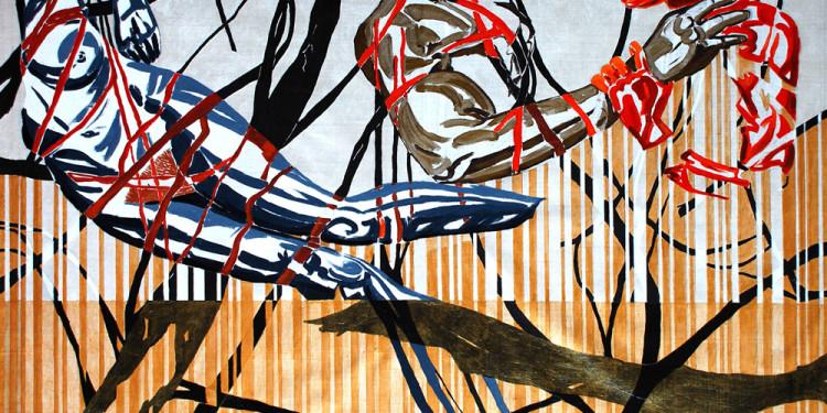 """""""Almone Tomorrow"""" di Giuseppe Scelfo - cm. 70x100 acrilico su tela, 2014 - presso studio.ra"""