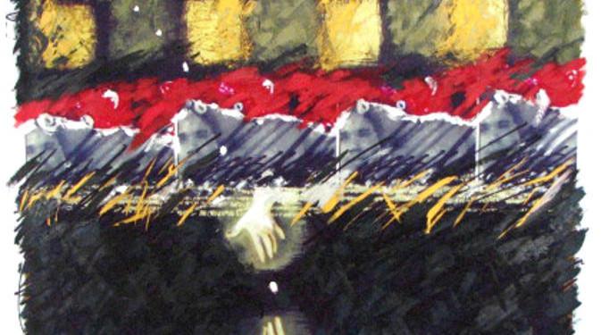TERESA OLABUENAGA mix media on canvas