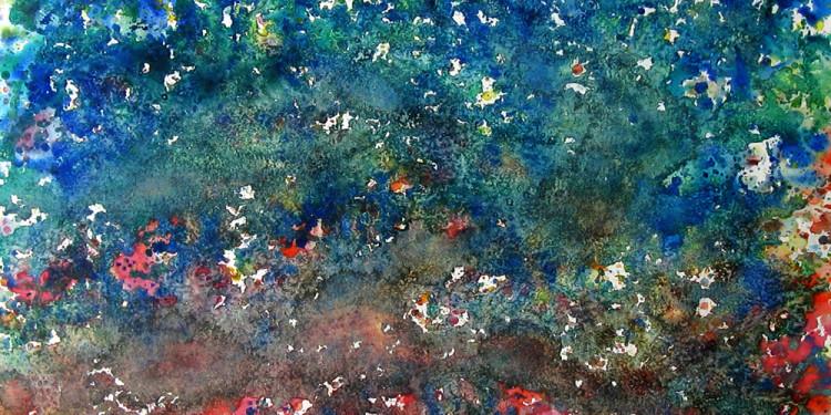 """Sogno sull'Almone"" by Qinggang Xiang - pittura su carta, cm 50 x 70, 2014 - presso studio.ra"
