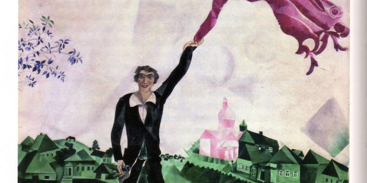 Marc Chagall, L passeggiata, 1917-1918,San Pietroburgo-Gosudarstvenny Russkij Muzej