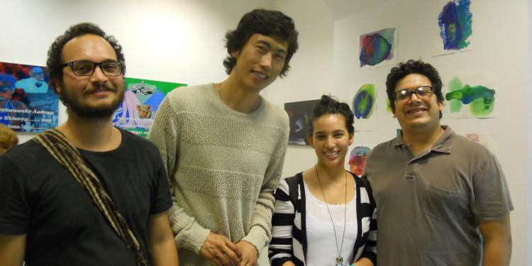 Qinggang Xiang con gli amici di Bogotà